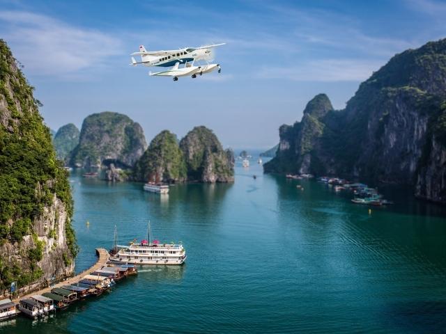 Vuelo Escénico Hanoi / Bahía Halong en Hidroavión