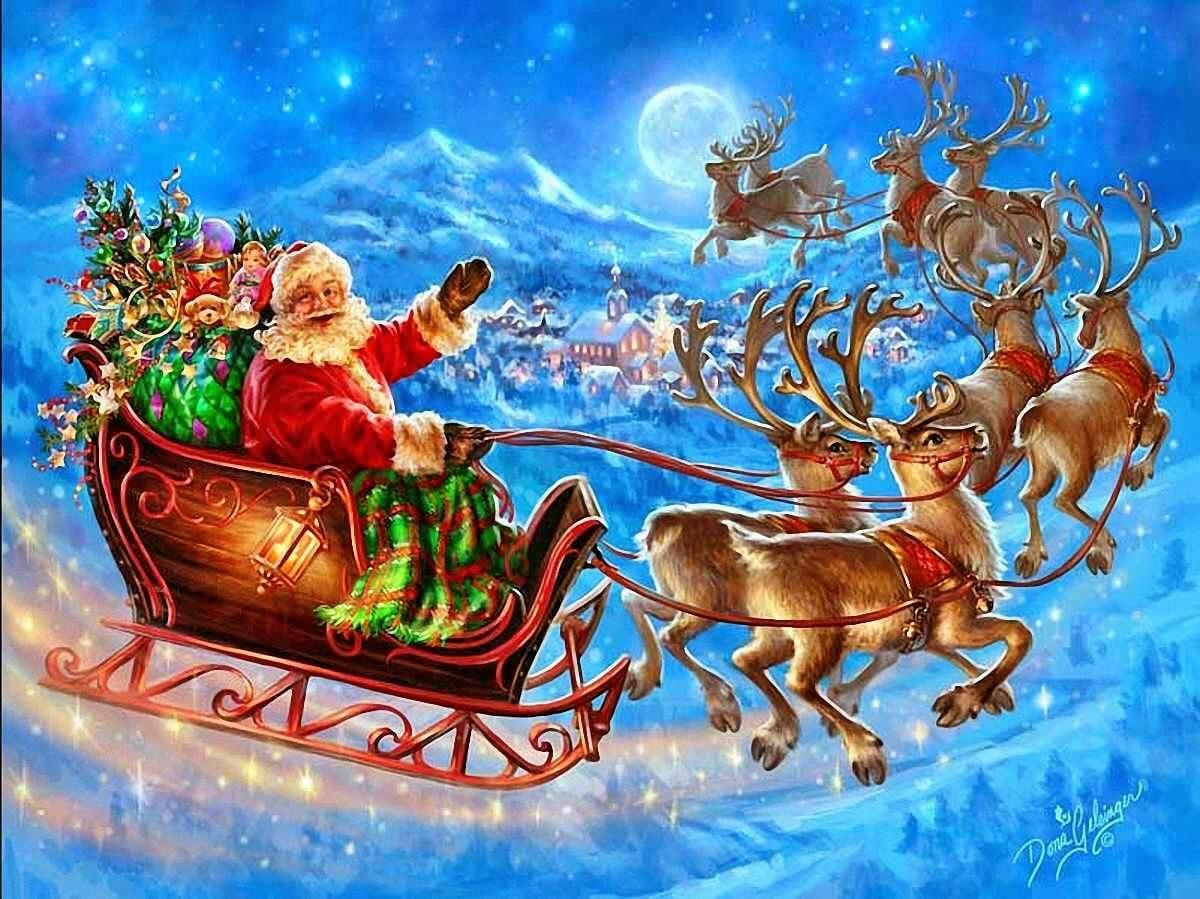 Los Reños voladores de Papá Noel