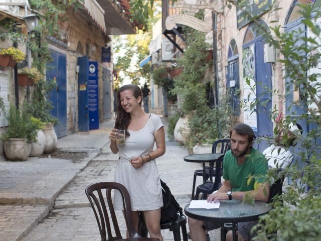 Calle típica de Safed