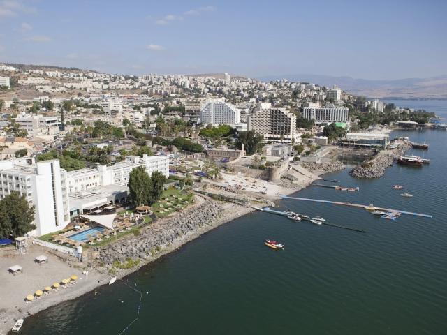 Vista aérea de Tiberiades