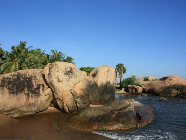 piedra parecida a elefante en la playa