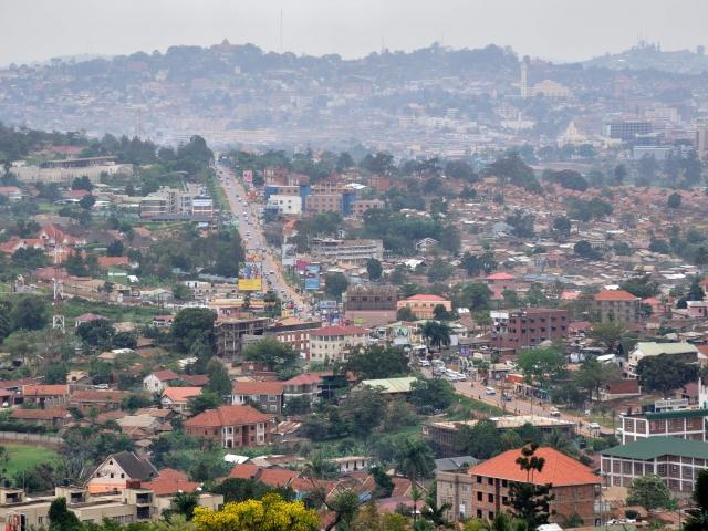vista panoramica Kampala